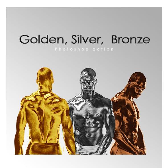 Golden, Silver, Bronze skin PS Action