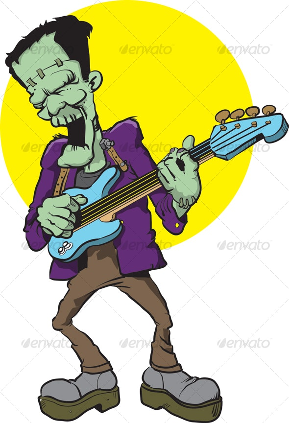 Frankie on Bass - Monsters Characters