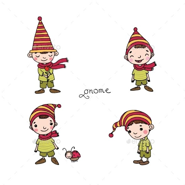 Set of Little Gnomes