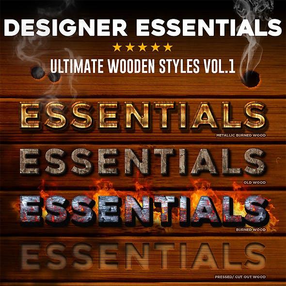 Designer Essentials Ultimate Wooden Styles Vol.1