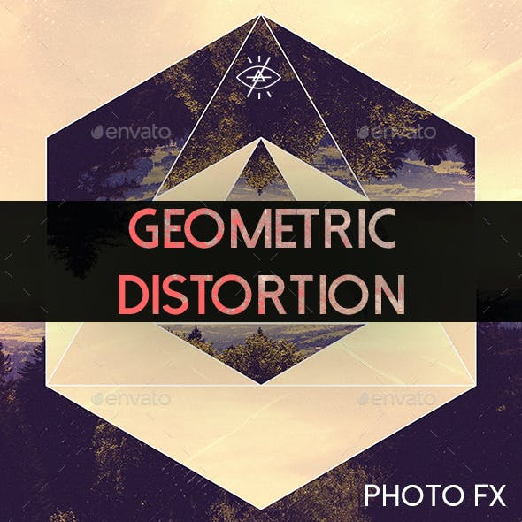 Geometric Distortion Photoshop Photo Template