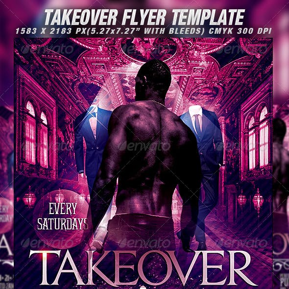 Takeover Flyer Template