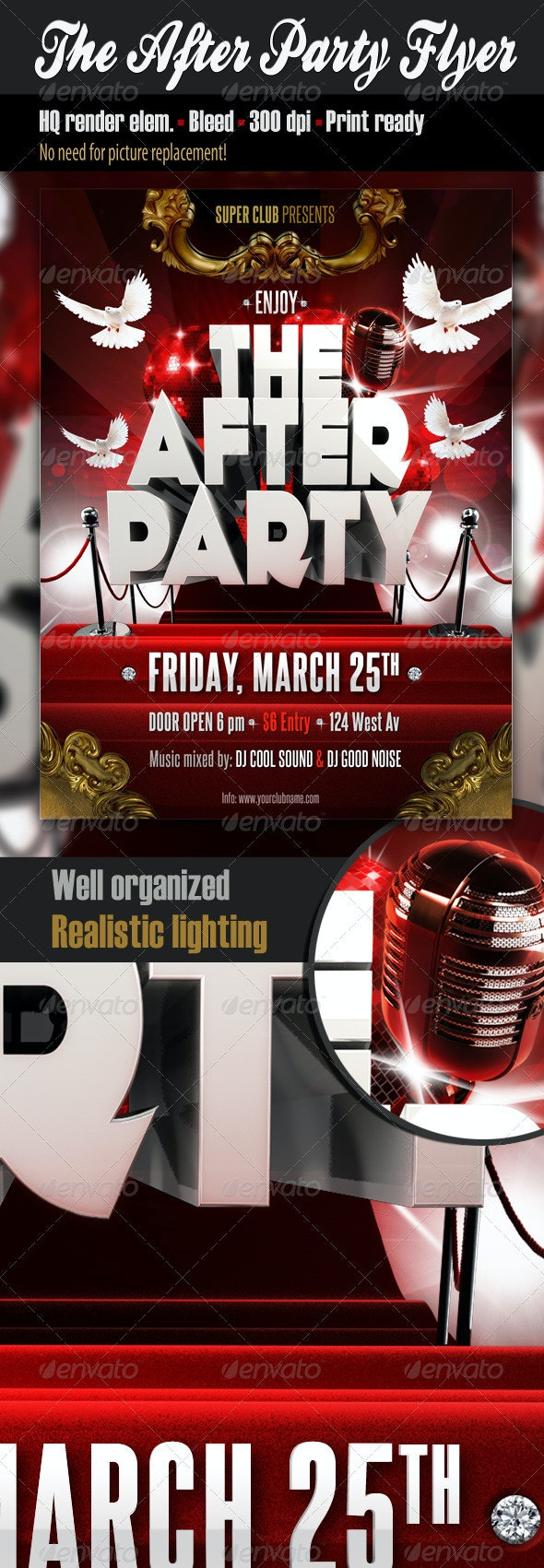 The After Party Flyer - Clubs & Parties Events