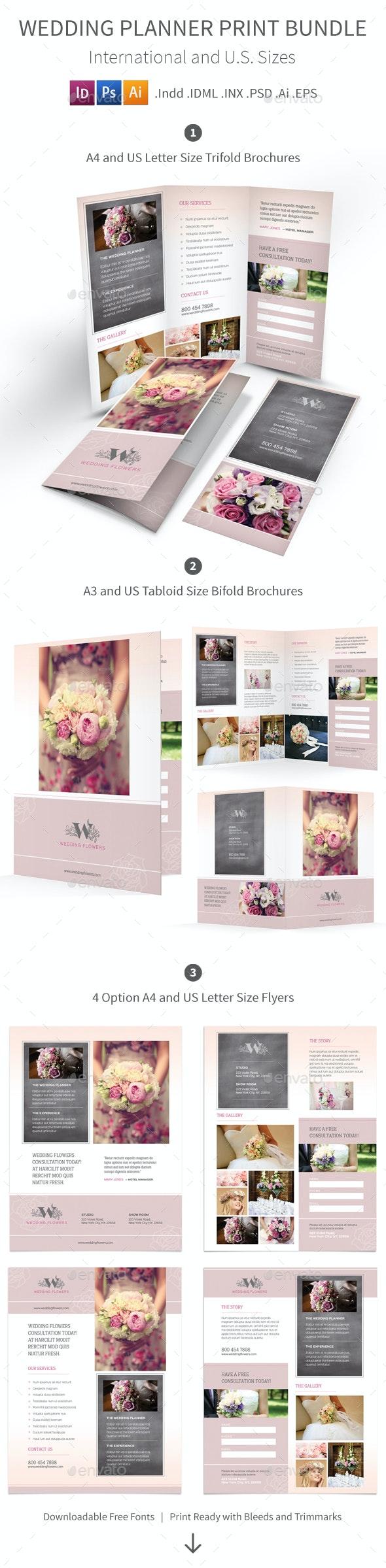 Wedding Planner Print Bundle - Informational Brochures