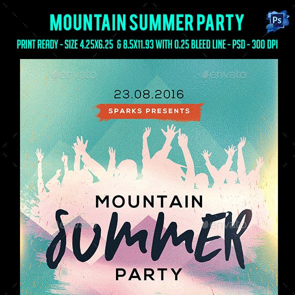 Mountain Summer Party Flyer