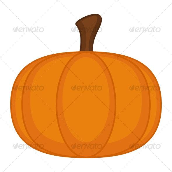 Cartoon Pumpkin - Halloween Seasons/Holidays