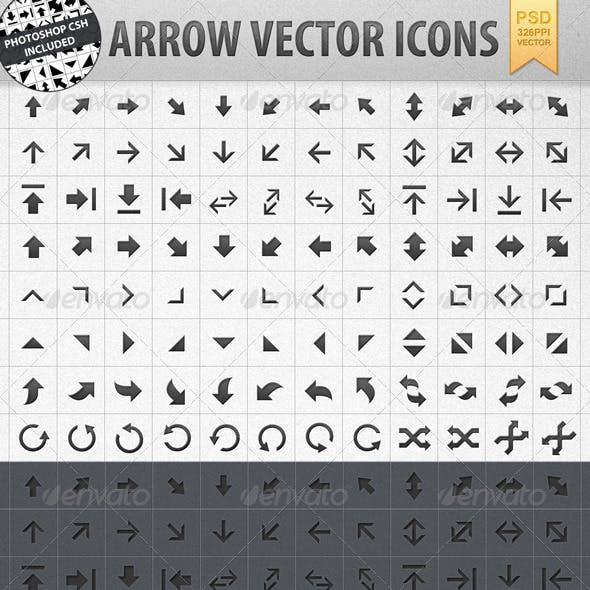 Arrow Vector Shape Icons incl. CSH