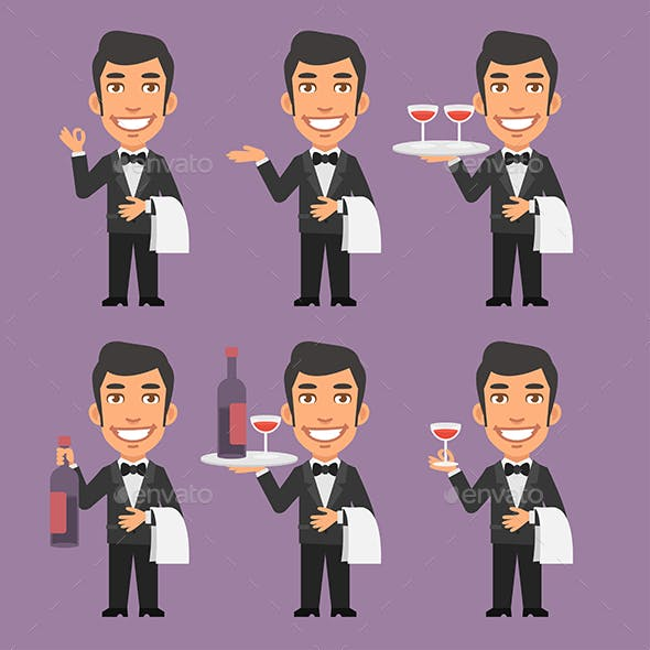 Waiter Holds Wine and Towel