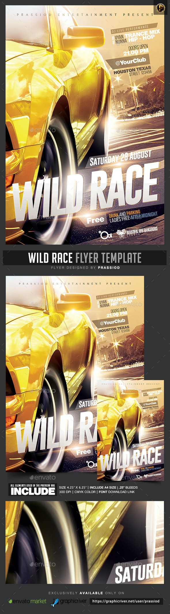 Wild Race Flyer Template - Events Flyers