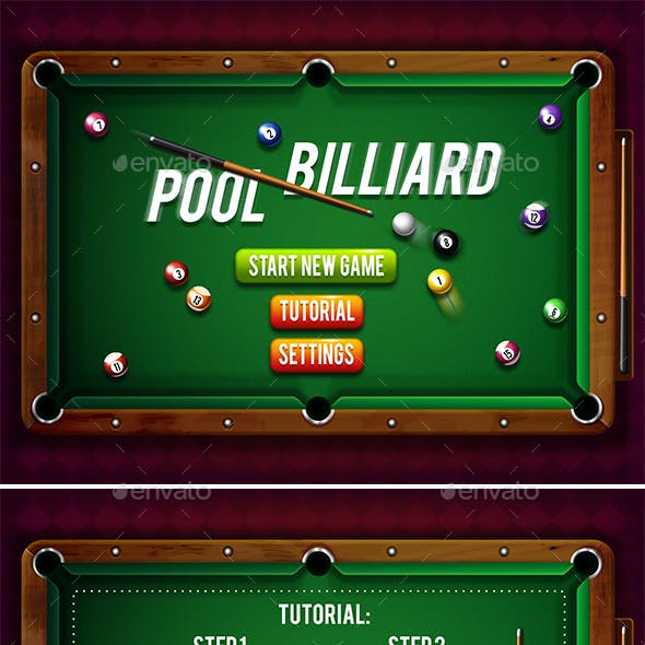 Billiard Game Pack with GUI