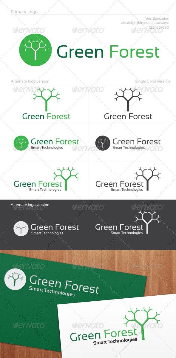Green Forest Logo - Nature Logo Templates
