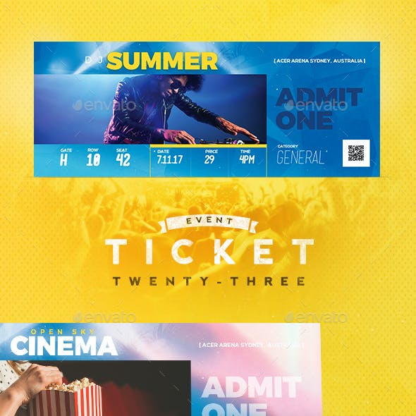 Event Tickets Template 24