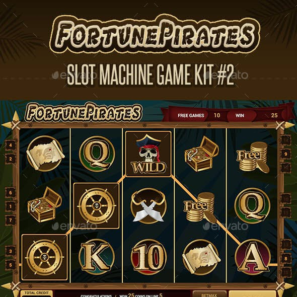 Fortune Pirates - Slot Machine Game Kit