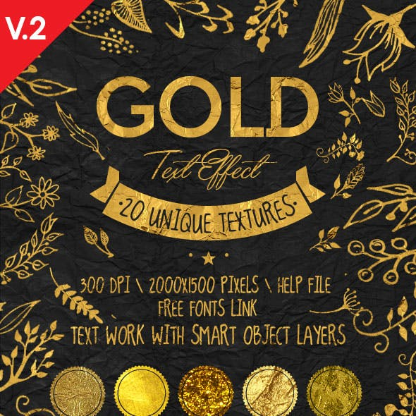 Gold Text Effects v.2.0