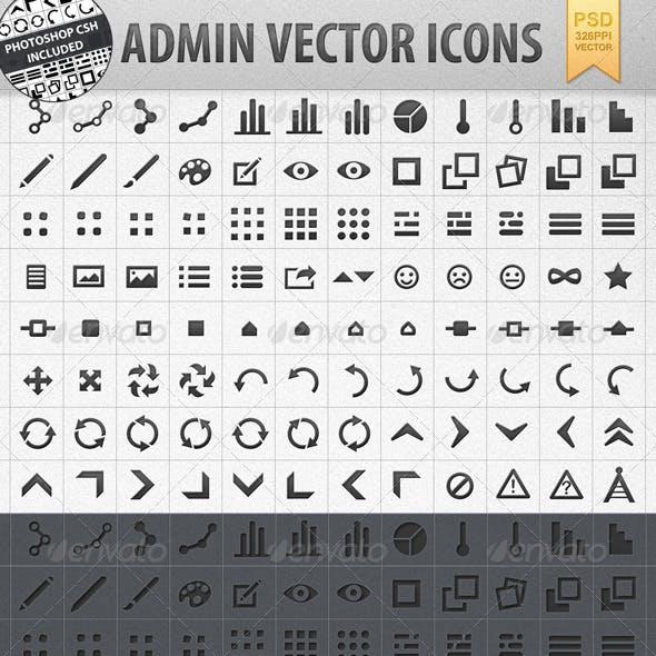 Admin Vector Shape Icons incl. CSH