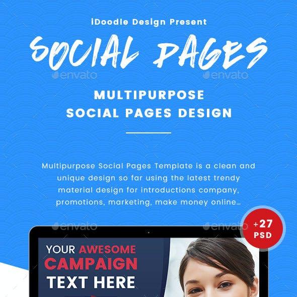 Multipurpose Social Pages - 27 PSD [03 Sets]