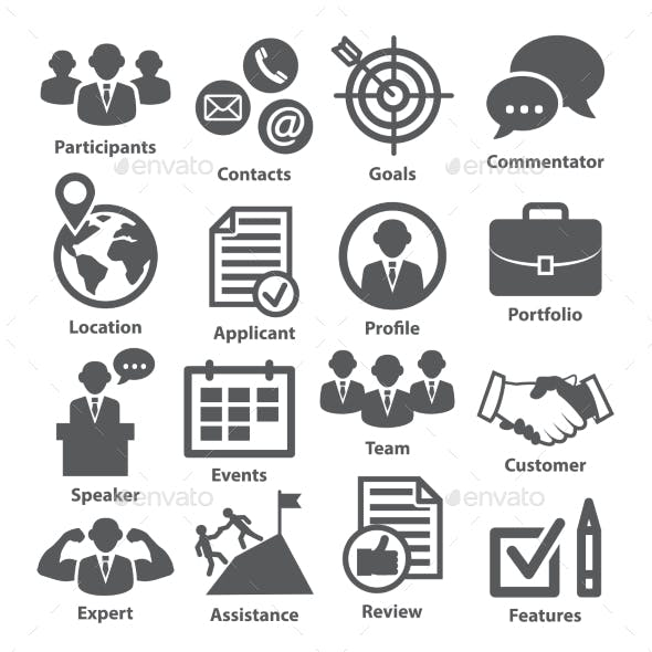 Business Management Icons. Pack 25.