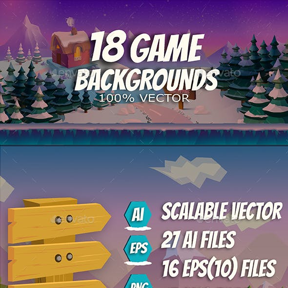 18 Game Backgrounds