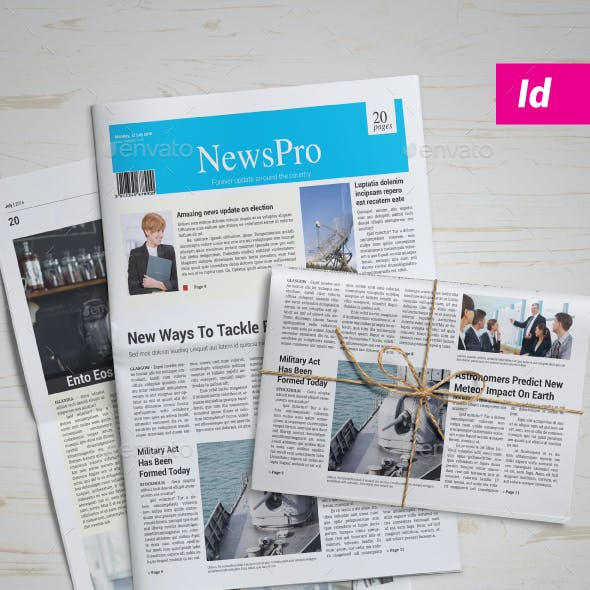 Newspaper Template | 20 Pages
