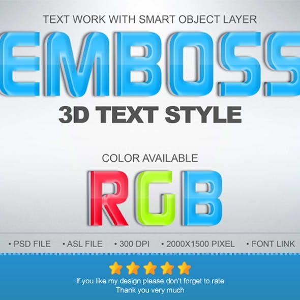 Emboss 3D Text Effect