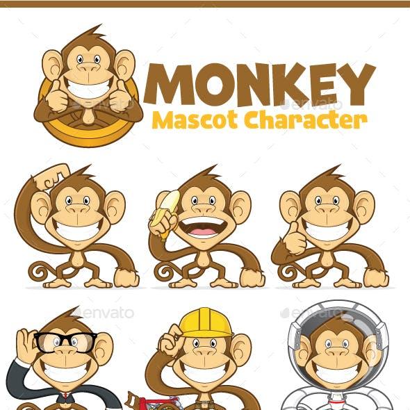 Monkey Mascot Character