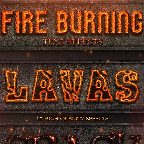 Fire Burning Layer Styles - Text Effects