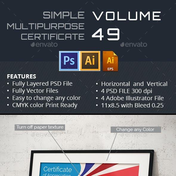 Easy Simple Multipurpose Certificate GD049