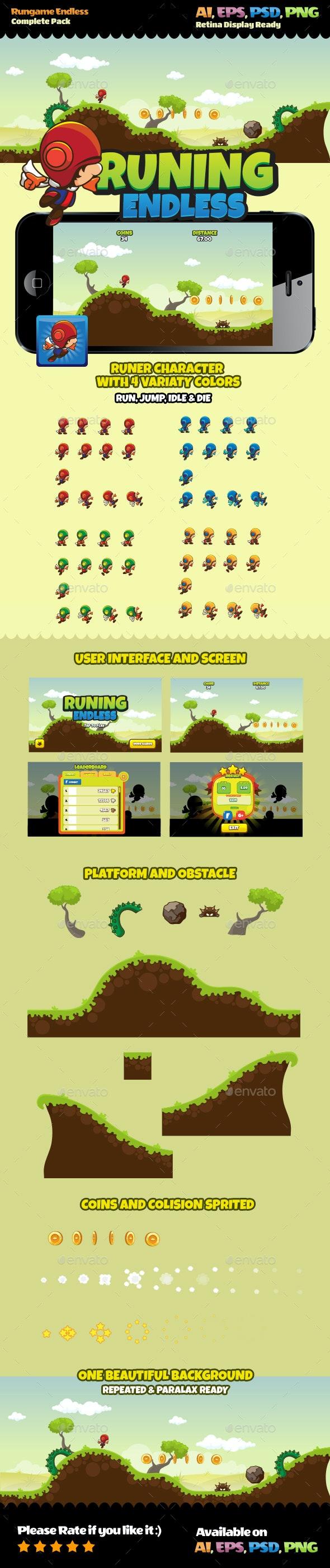 Run Endless Game Pack - Game Kits Game Assets