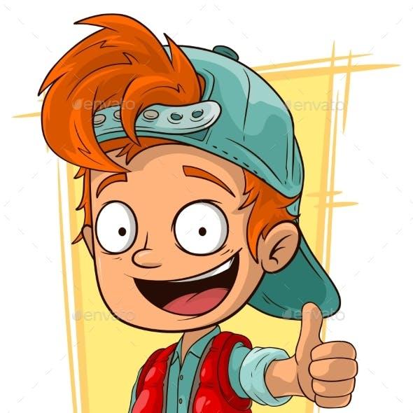 Cartoon Little Redhead Boy