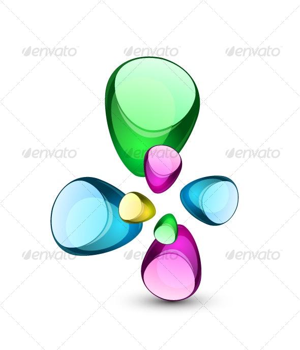Abstract glass shapes - Decorative Symbols Decorative