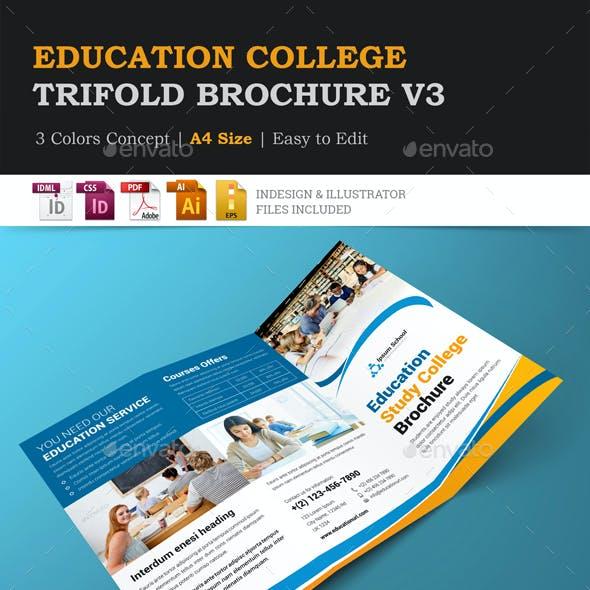 Education College Trifold Brochure v3