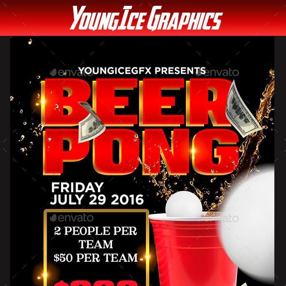 Beer Pong Flyer Template