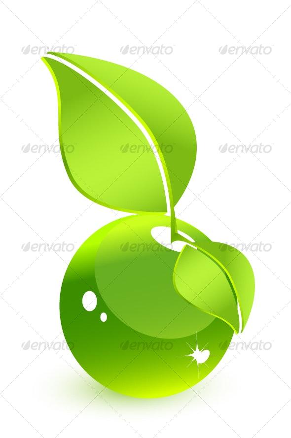 Green glass water-fruit - Nature Conceptual