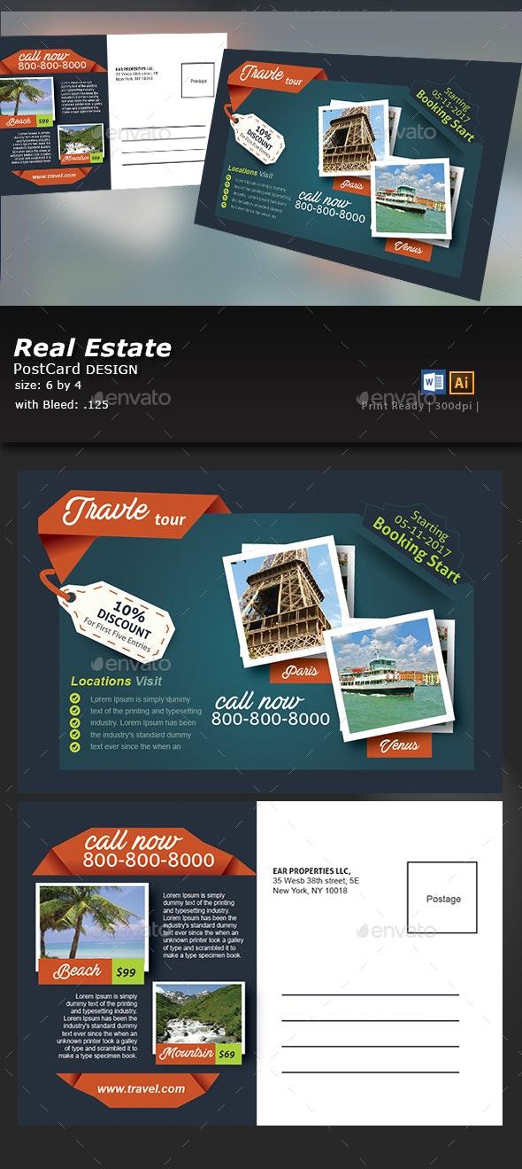 Travel Tours Postcard Templates - Flyers Print Templates