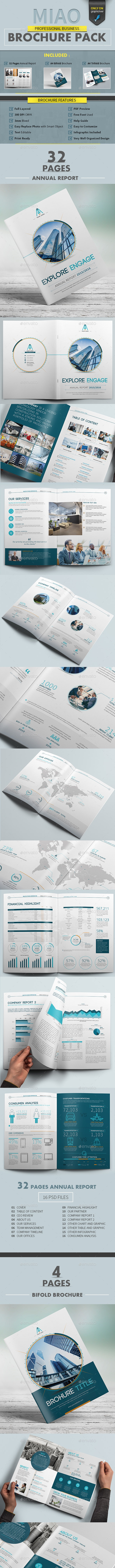 Annual Report - MIAO - Professional Business Brochure Pack - Corporate Brochures