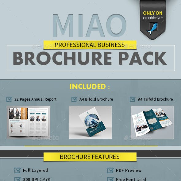 Annual Report - MIAO - Professional Business Brochure Pack