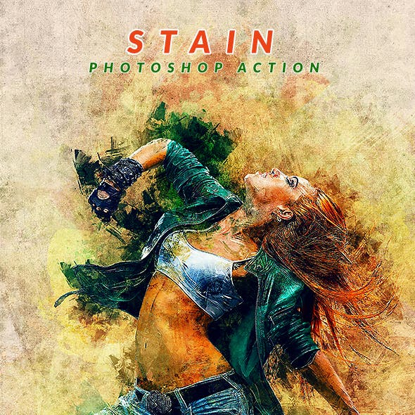 Stain Photoshop Action