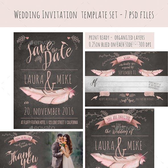 Vintage Font Wedding Card Designs & Invite Templates