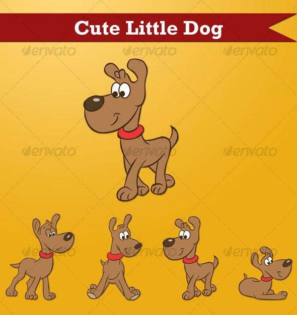 Cute Little Dog - Animals Characters