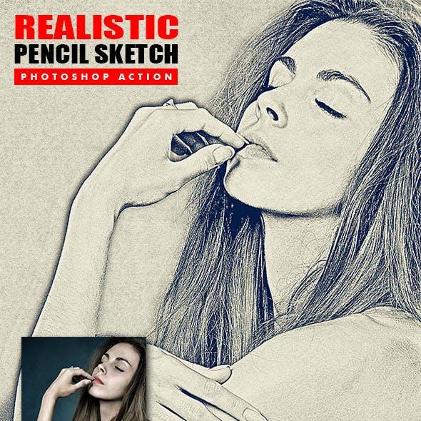 Realistic Pencil Sketch Photoshop Action