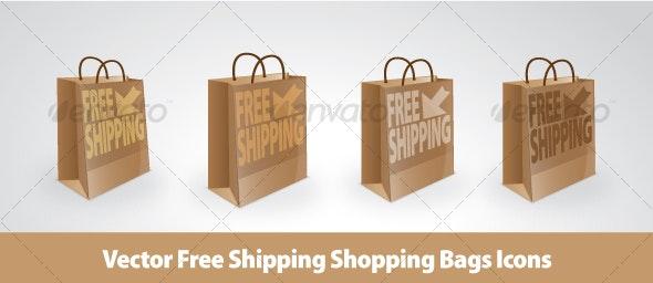 Vector Free shipping Bag Set - Business Conceptual
