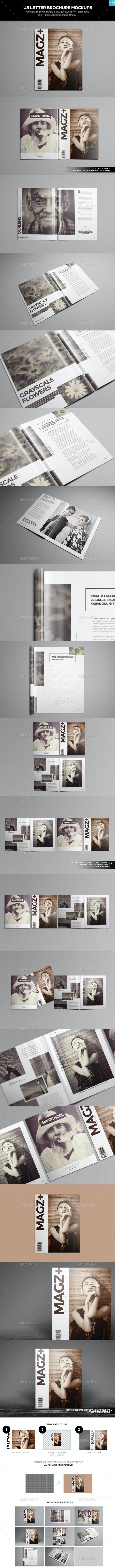 US Letter Brochure Mockups - Brochures Print