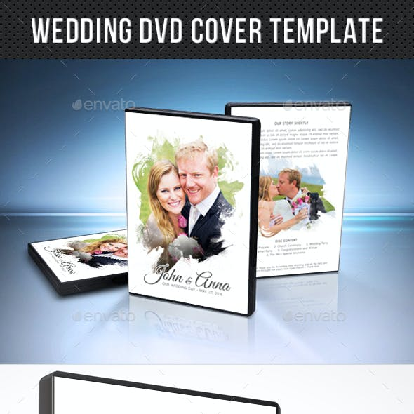 Wedding DVD Cover Template 17
