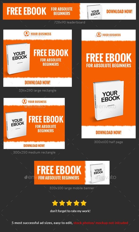 Orange Ebook Web Banner Template