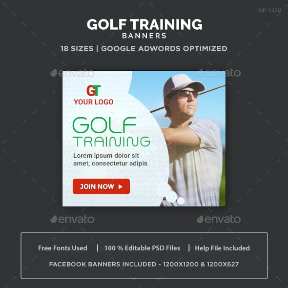 Golf Training Banners