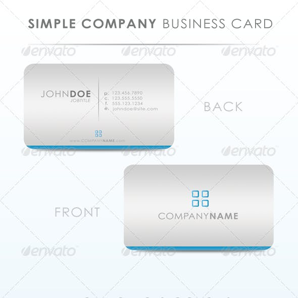 Simply Company Business Card