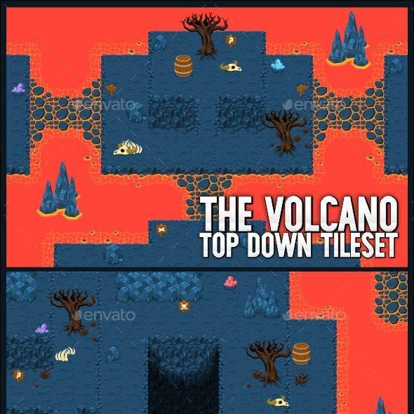 The Volcano - Top Down Tileset