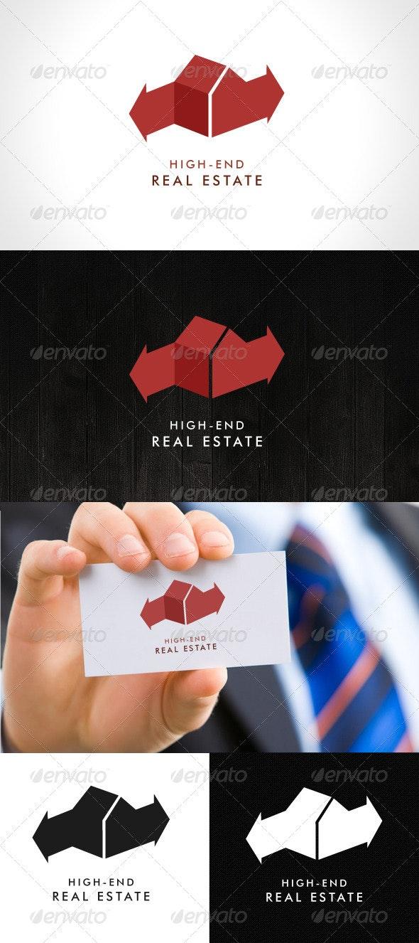 High-End Real Estate Logo - Buildings Logo Templates