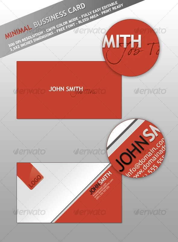 Minimal - Smart Bussiness Card - Corporate Business Cards