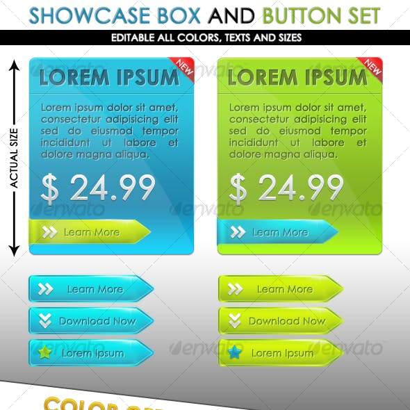 Showcase Box and Button Set